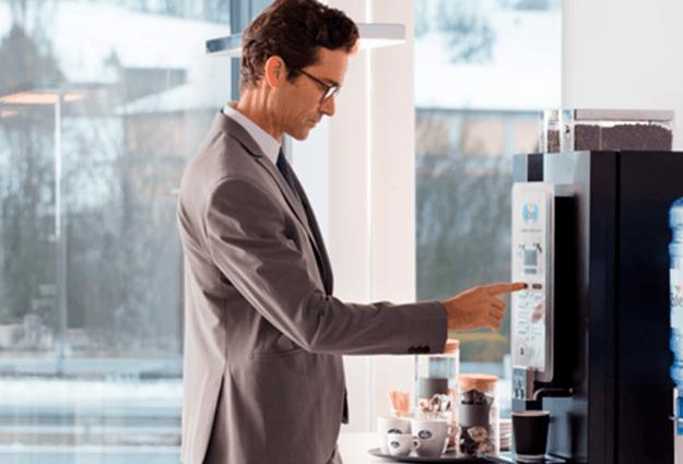 kaffeemaschine mit bohnen für büro
